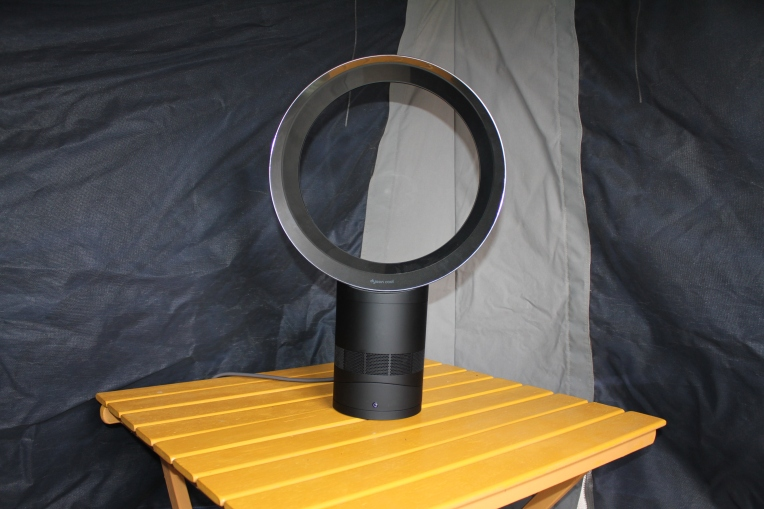 The Dyson Cool is perfect for camping trips! It's light weight and easy to transport.