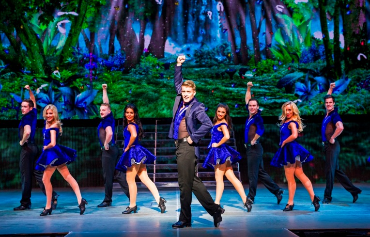 A scene from Lord Of The Dance, Dangerous Games by Michael Flatley @ London Palladium (Opening 2-09-14) ©Tristram Kenton 08/14 (3 Raveley Street, LONDON NW5 2HX TEL 0207 267 5550 Mob 07973 617 355)email: tristram@tristramkenton.com