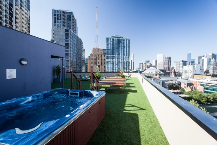 Swim spa on Rooftop